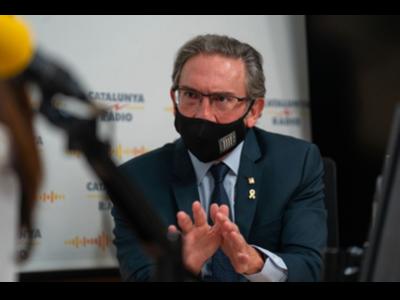 El conseller Giró durant l'entrevista