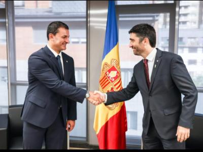 Trobada entre el vicepresident i el ministre andorrà