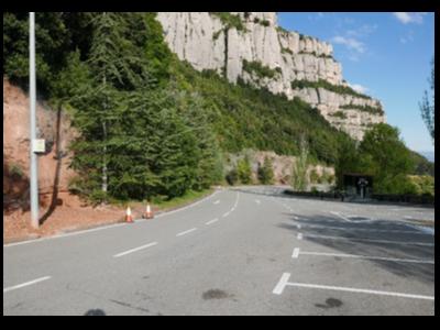 Aparcament del monestir de Montserrat