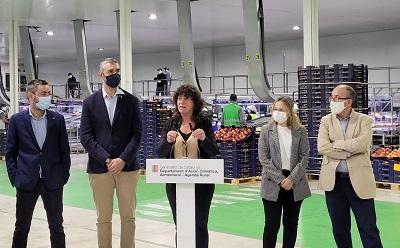 Teresa Jordà fent balanç de la campanya de fruita dolça 2021