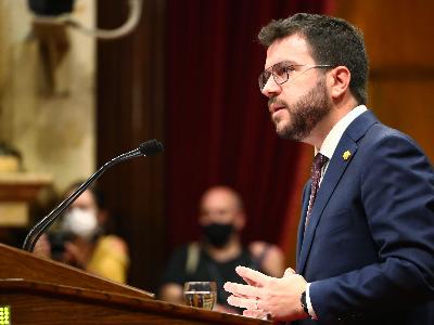 El president, durant la seva intervenció al ple. Autor: Jordi Bedmar