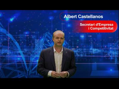 El secretari d'Empresa i Competitivitat, Albert Castellanos, durant la presentació dels ajuts