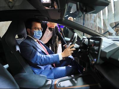 El president Aragonès al saló Automobile Barcelona (foto: Jordi Bedmar)
