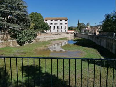 La bassa de Capellades, un dels principals indicadors del nivell de aqüífer.