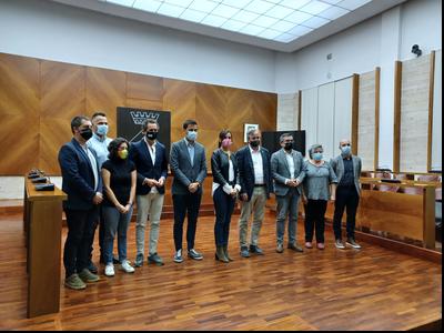 Visita del delegat a l'Ajuntament de Sabadell