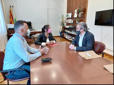 Reunió del delegat amb l'alcaldessa de Sabadell