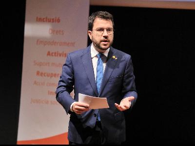 El president, durant la seva intervenció. Autor: Jordi Bedmar