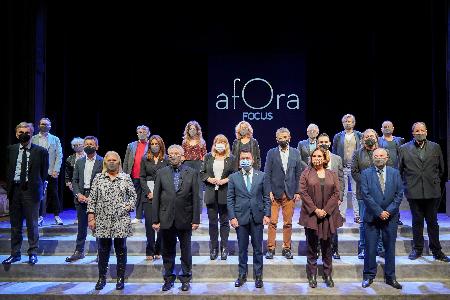 El president Aragonès a la presentacio del projecte cultural Àfora (foto: Paco J. Muñoz)