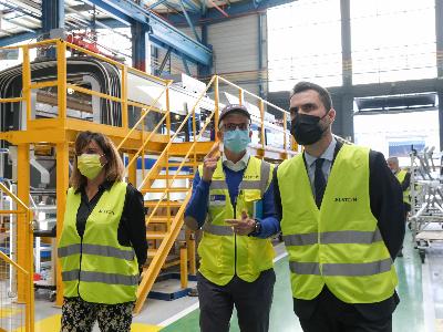 El conseller ha pogut visitar les instal·lacions d'Alstom a Santa Perpètua