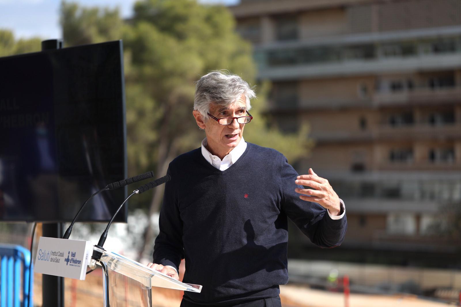El conseller de Salut, Josep Maria Argimon, durant la presentació del nou Vall d'Hebron